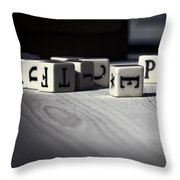 Colonial Games Throw Pillow