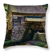 Colonial Grist Mill Throw Pillow