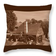 Colonial In Sepia Throw Pillow
