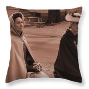 Colonial Ladies Throw Pillow