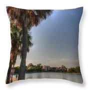 Colonial Lake Throw Pillow