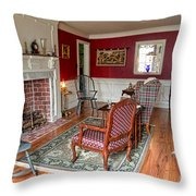 Colonial Parlor Throw Pillow by Olivier Le Queinec