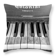 Colonial Piano Throw Pillow