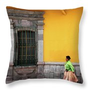 Colonial Puno Throw Pillow