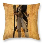 Colonial Soldier Throw Pillow by Thomas Woolworth