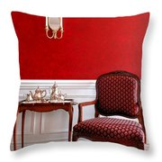 Colonial Style Throw Pillow by Olivier Le Queinec