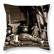 Colonial Table Set Throw Pillow