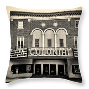 Colonial Theater In Phoenixville In Sepia Throw Pillow