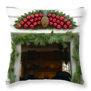 Colonial Williamsburg Yuletide Decorations Throw Pillow
