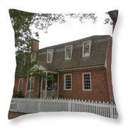 Colonial Williamsburg Scene Throw Pillow