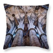 Colonnade And Stained Glass No1 Throw Pillow