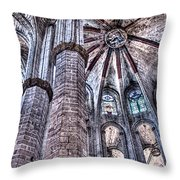 Colonnade And Stained Glass No2 Throw Pillow