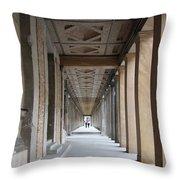 Colonnade Neues Museum Berlin Throw Pillow