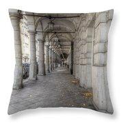 Colonnaden In Hamburg Germany Throw Pillow