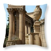 Colonnades Palaces Of Fine Arts Throw Pillow