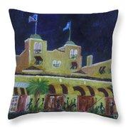 Colony Hotel At Night. Delray Beach Throw Pillow
