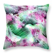 Color Abstract Red-green Throw Pillow