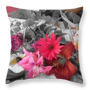 Color Accents Throw Pillow