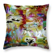 Color And Light Throw Pillow by Tanya Jacobson-Smith