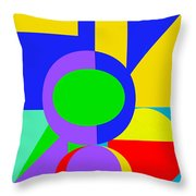Color And Shape Series #1 Throw Pillow