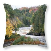 Color At The Falls Throw Pillow