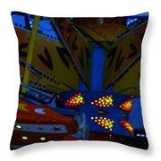 Color Bam Throw Pillow
