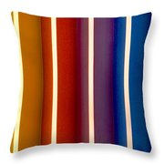 Color Bands Throw Pillow