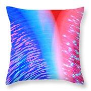 Color Blades Throw Pillow