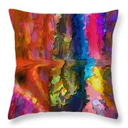 Color Bridge Throw Pillow