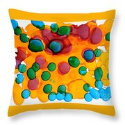Color Bubbles Throw Pillow