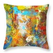 Color Burst #1 Throw Pillow