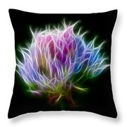 Color Burst Throw Pillow by Adam Romanowicz