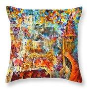 Color Castle Throw Pillow