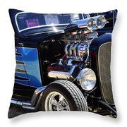Color Chrome 1932 Black Ford Coupe Throw Pillow