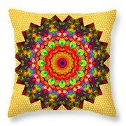 Color Circles Kaleidoscope Throw Pillow