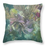 Color Corals Throw Pillow by Adam Jewell