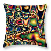 Color Cycles Throw Pillow