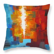 Color Deluge Throw Pillow
