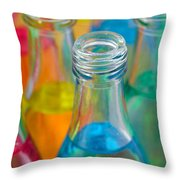Color Drink Throw Pillow