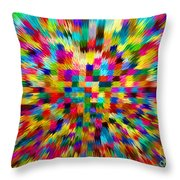 Color Explosion I Throw Pillow