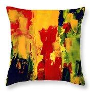 Color Fantasy Throw Pillow