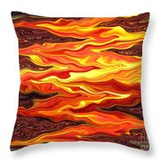 Color Fashion Waves Throw Pillow