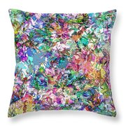 Color Filled Abstract Throw Pillow