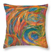 Color Fingers Throw Pillow