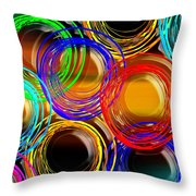 Color Frenzy 1 Throw Pillow by Andee Design