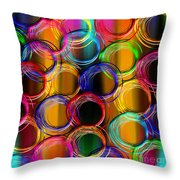 Color Frenzy 5 Throw Pillow