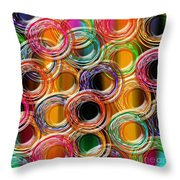 Color Frenzy 6 Throw Pillow