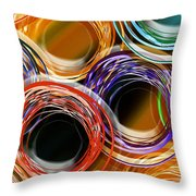 Color Frenzy 7 Throw Pillow