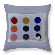 Color From The Series The Elements And Principles Of Art Throw Pillow