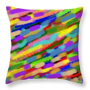 Color Hatch Highway Throw Pillow